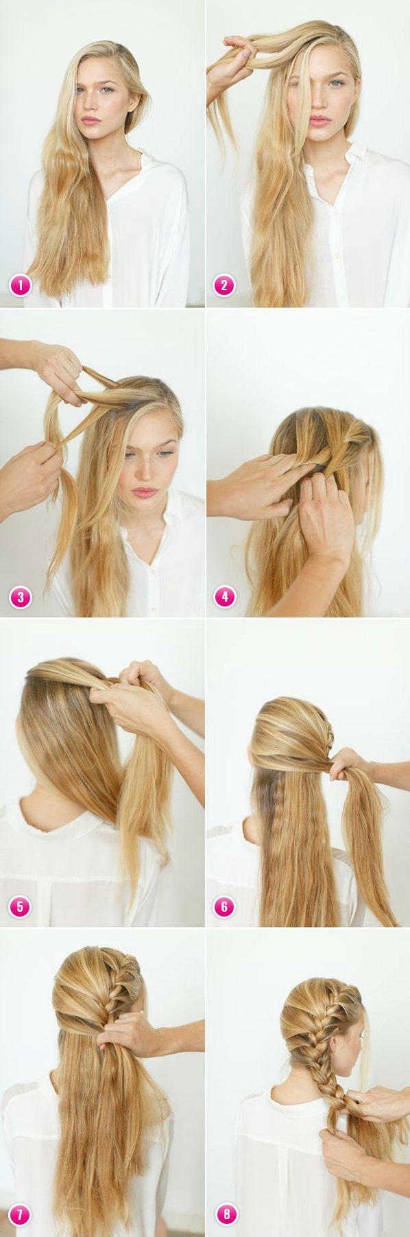 Как можно заплести волосы в школу самой себе - 575d