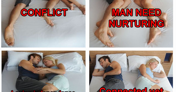 what sleeping position says about relationship