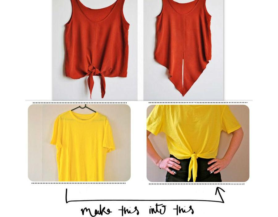 Как сделать короткую футболку