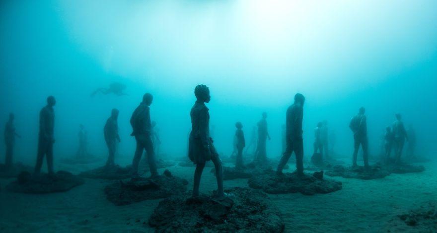 Museo Atlantico Lanzarote Creepy Underwater Sculptures Or