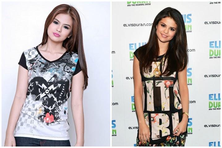 Celebrity Look Alike: Bea Binene and Selena Gomez
