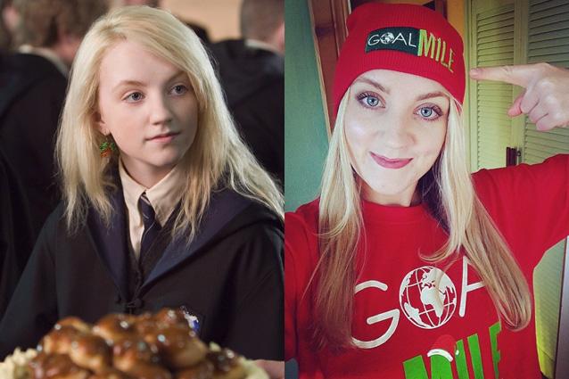 Luna Lovegood Then And Now Harry Potter Actors: T...
