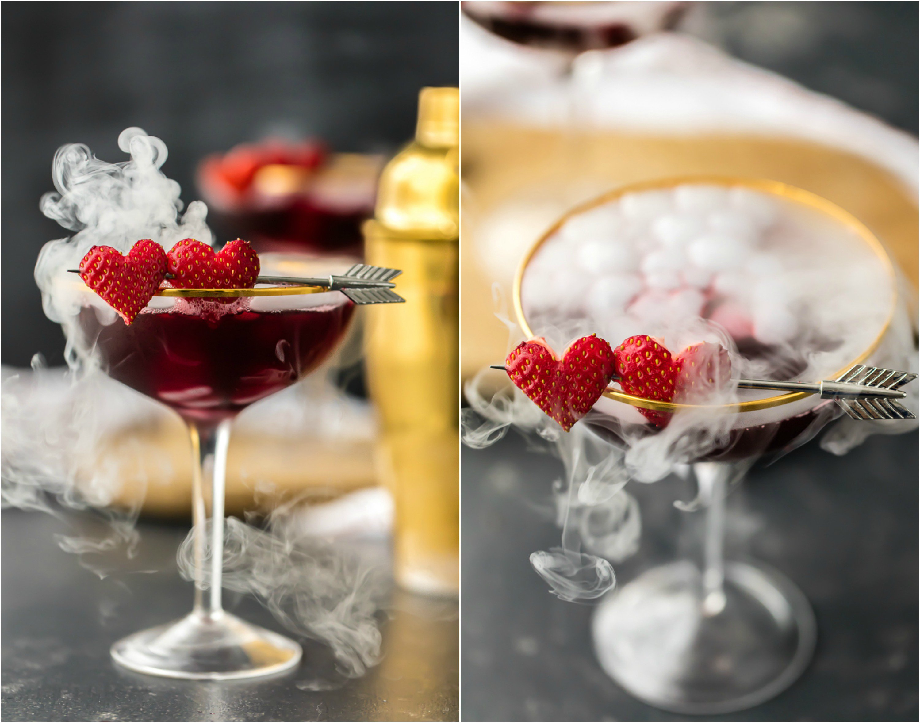 martini potion berry cocktails dry ice valentine romantic valentines cocktail triple drink pomegranate beauty