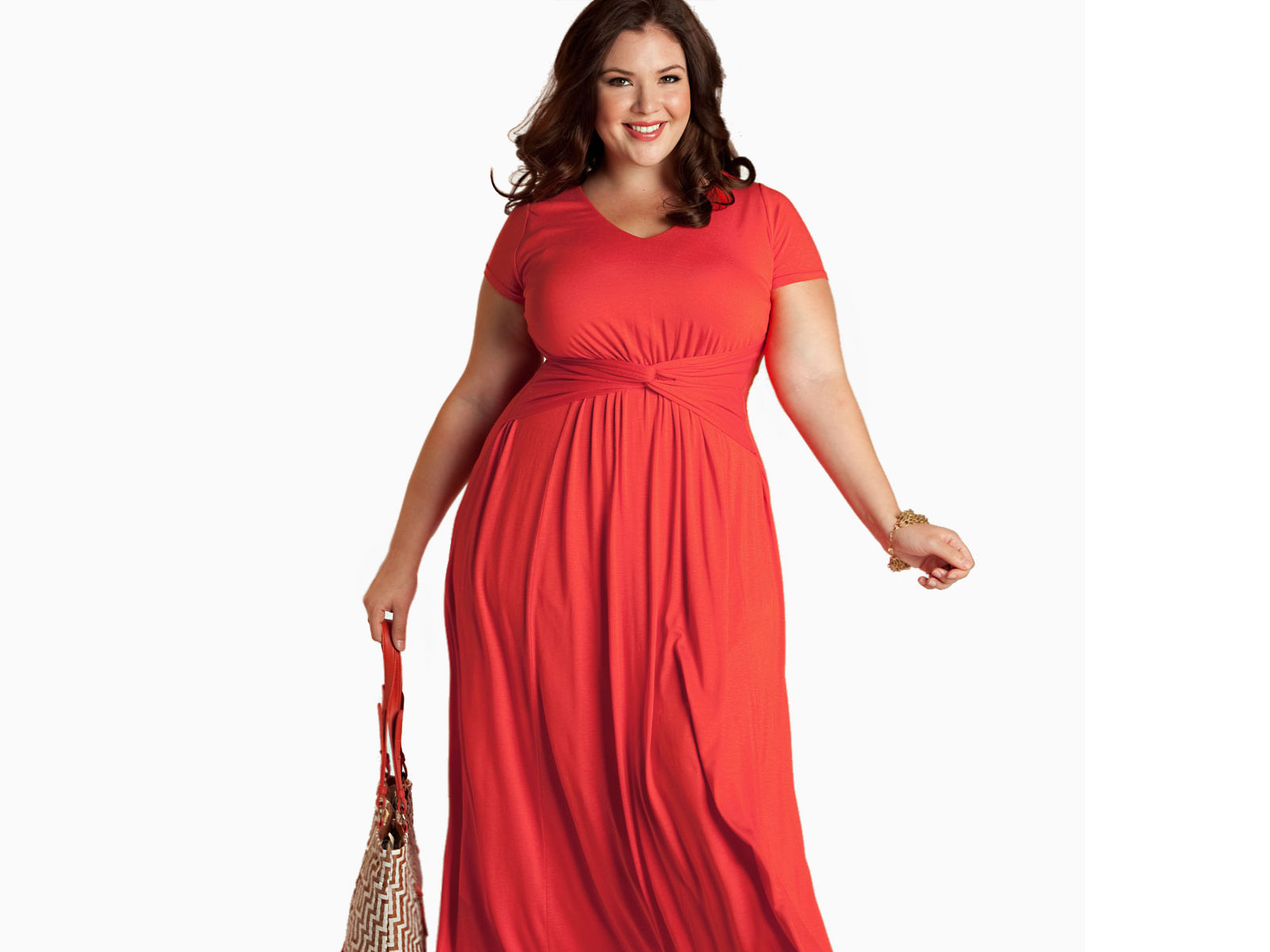 Plus size maxi red dress