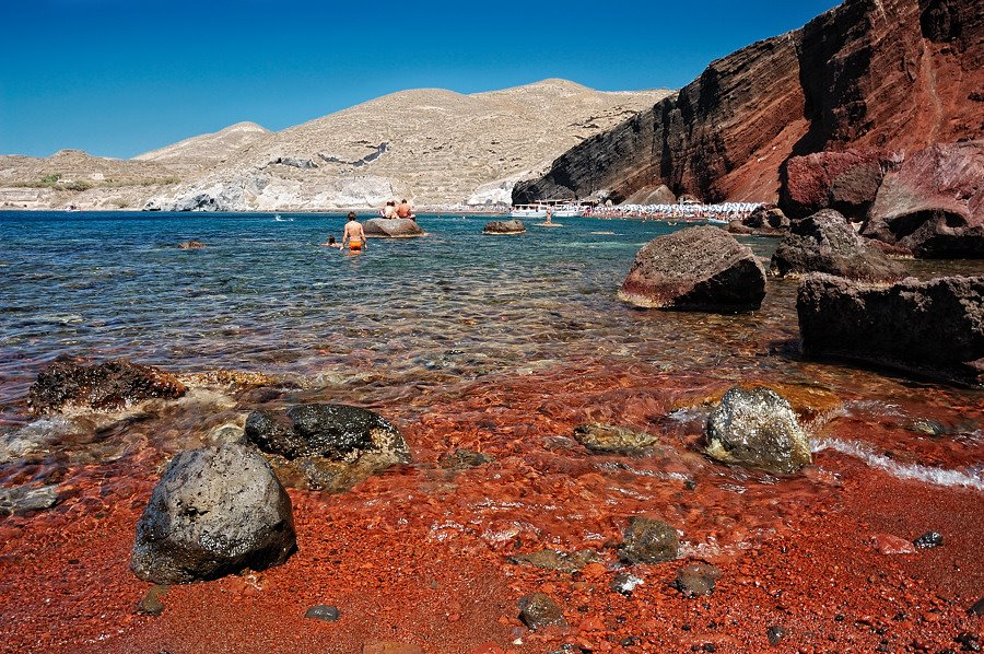 Santorini's Red Beach Akrotiri, Greek Islands - Top 10 Most Breathtaking Beaches In The World