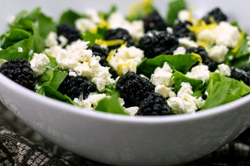 Berries, arugula and feta Salad - 10 Healthy but Delicious Desserts You Should Try