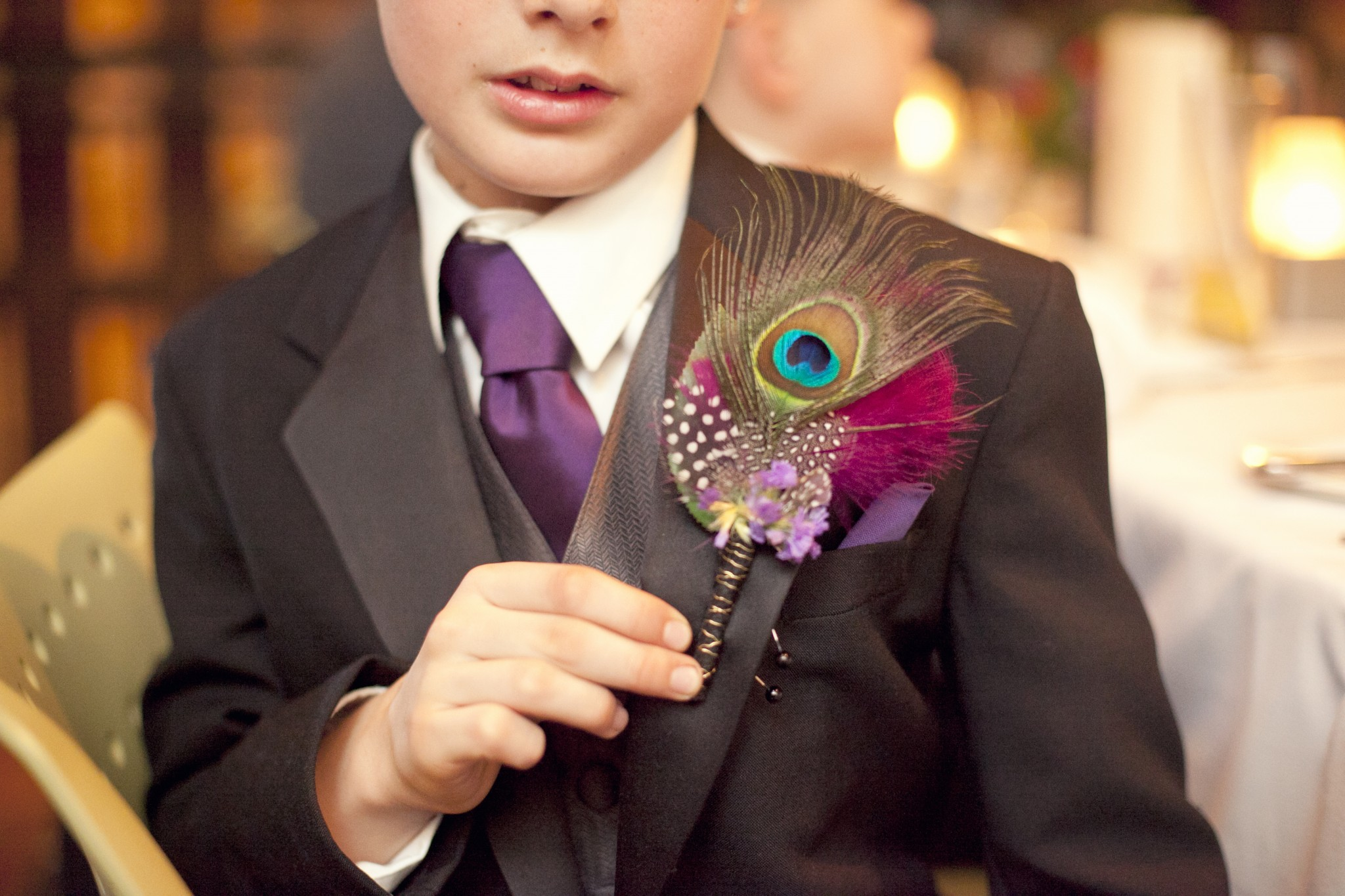 peacock feather wedding decoration - Summer Wedding Ideas