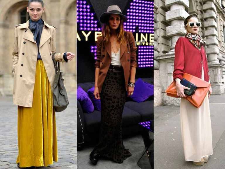 Maxi Skirts - Top Fashion Trends For Fall 2014