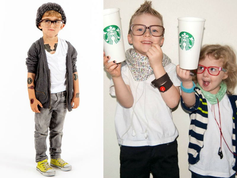 Little Hipster Costume - Hilarious ideas for kids' Halloween costumes