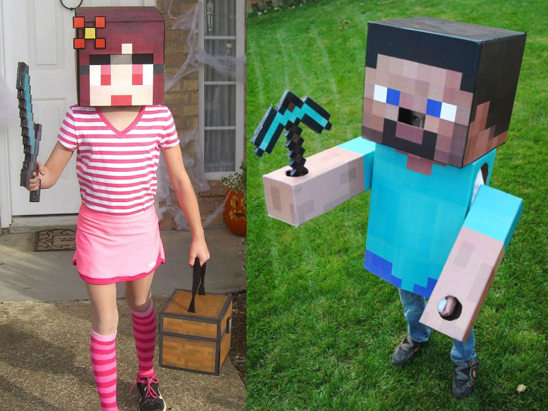 Minecraft Costume - Hilarious ideas for kids' Halloween costumes