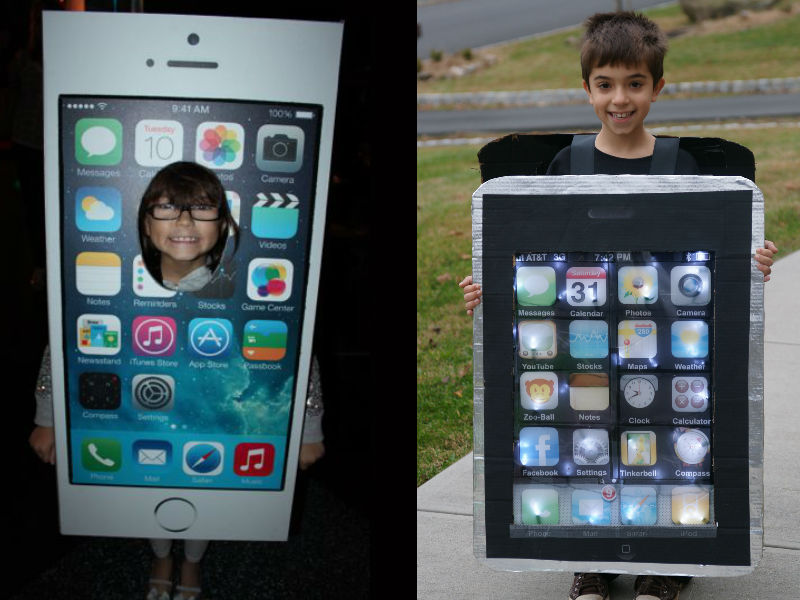 Iphone Costume - Hilarious ideas for kids' Halloween costumes