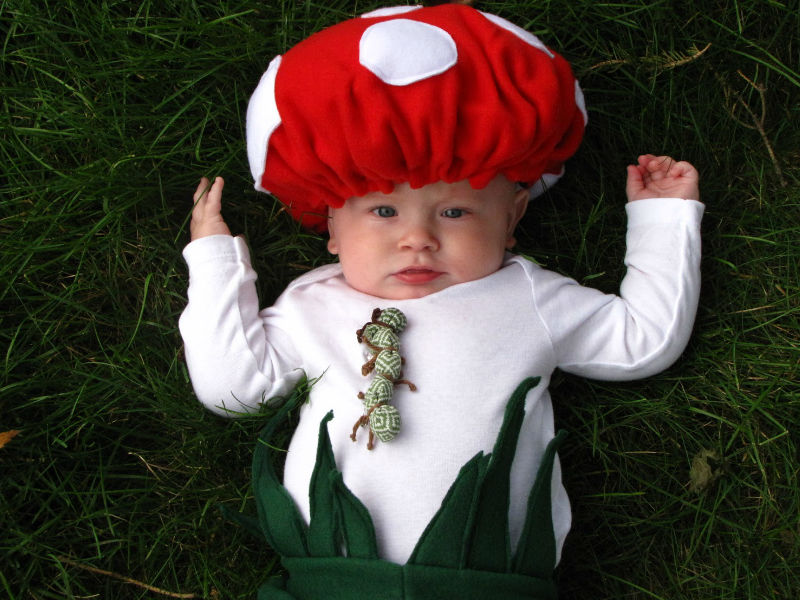 Baby Mushroom Costume - Hilarious ideas for kids' Halloween costumes