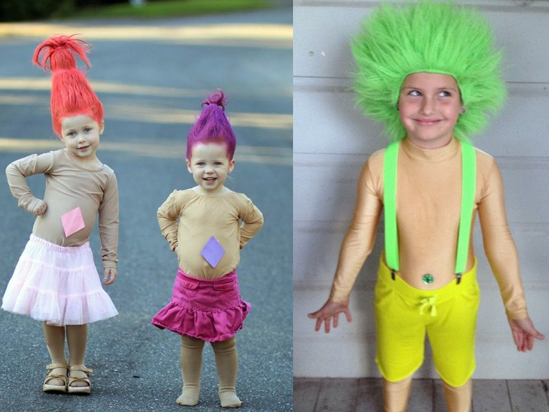 Troll Costume - Hilarious ideas for kids' Halloween costumes