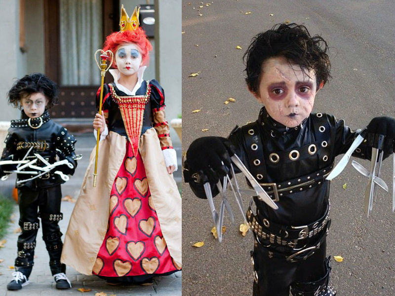 Edward Scissorshands - Hilarious ideas for kids' Halloween costumes