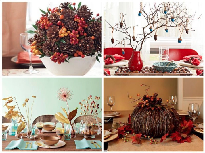 2. Forest Themed Centerpieces