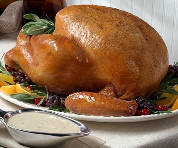 4 Roast Turkey with Wild Mushroom Gravy