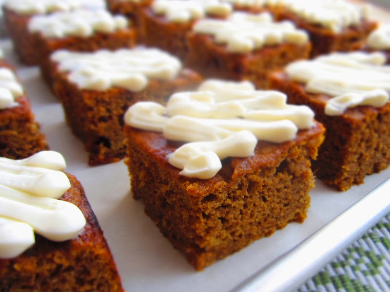 6. Pumpkin Bars - Top 10 Pumpkin Recipes to Try This Fall