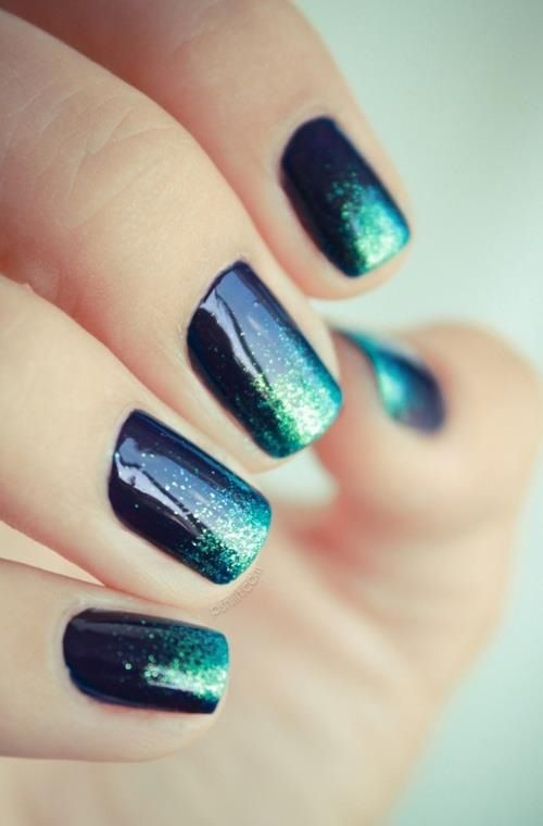 Glittery and Shimmery Nails