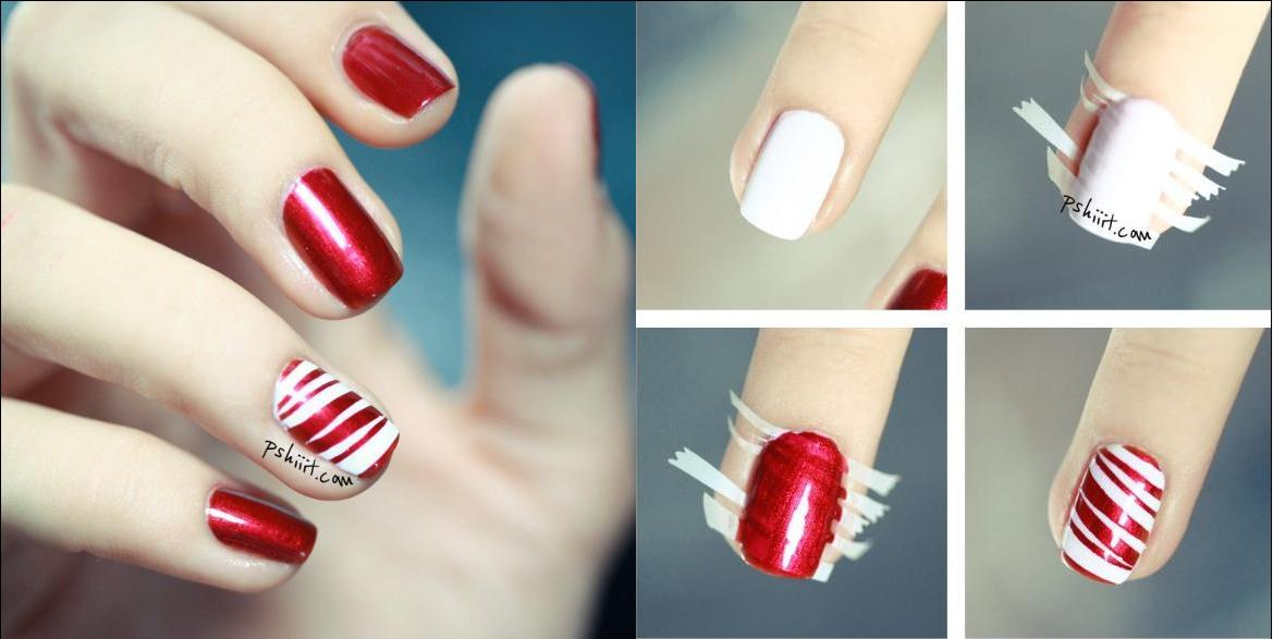 1. Candy Canes Nails
