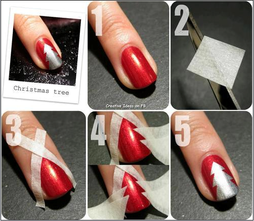 2. Christmas Tree Nails
