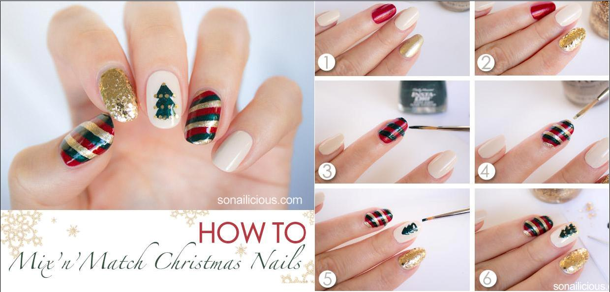 4. Mix'n'Match Christmas Nails