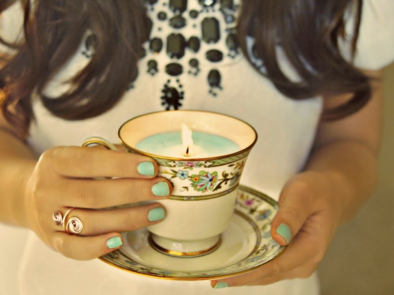 4. Teacup candles