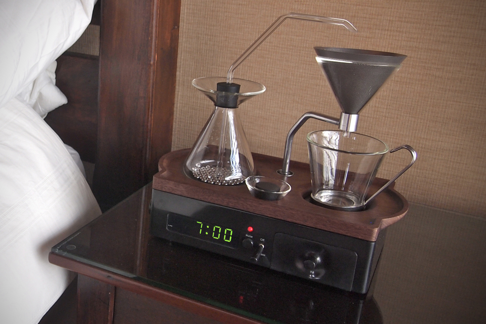 16. The Barisieur Coffee Brewing Alarm Clock