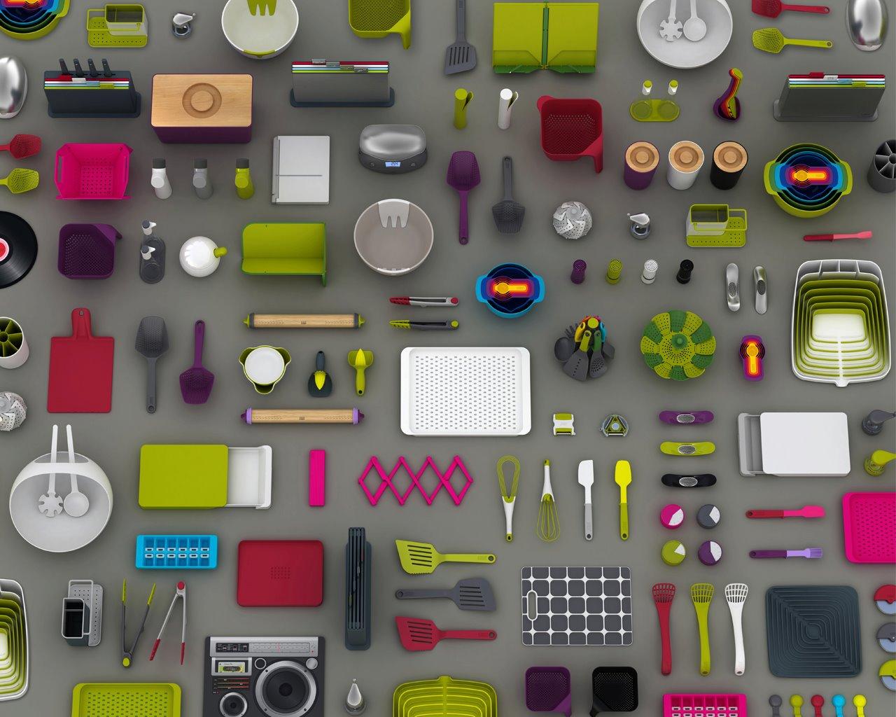 Bright colors in kitchen design
