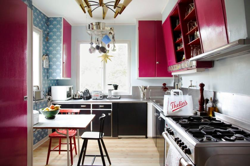 Bright colors in kitchen design