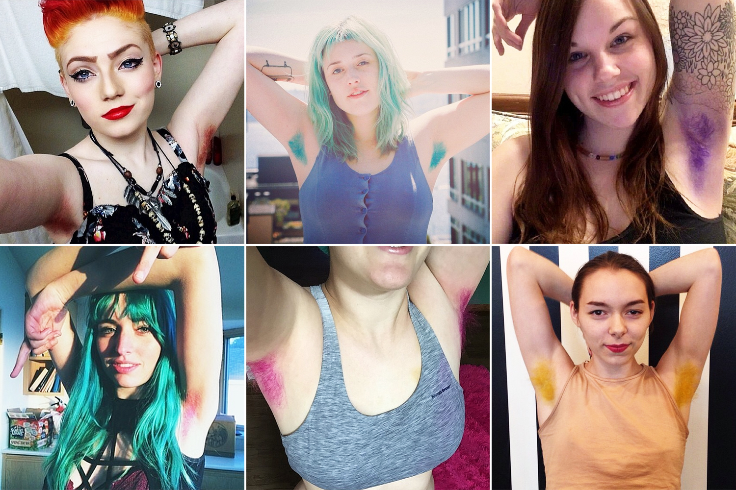 10. Dyed armpit hair