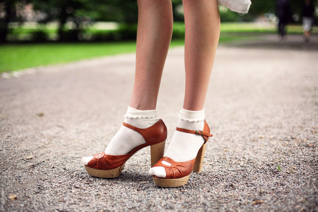 8. Sandals with socks
