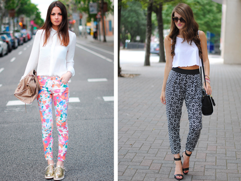 3) Print trousers