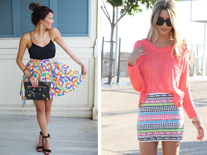 5) Same with printed skirts