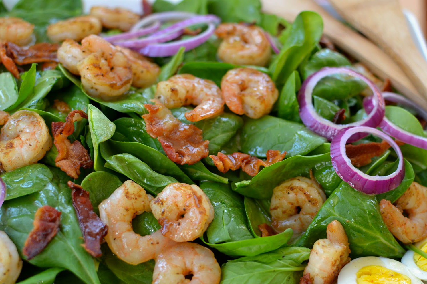 Number 7- Shrimp and Spinach Salad