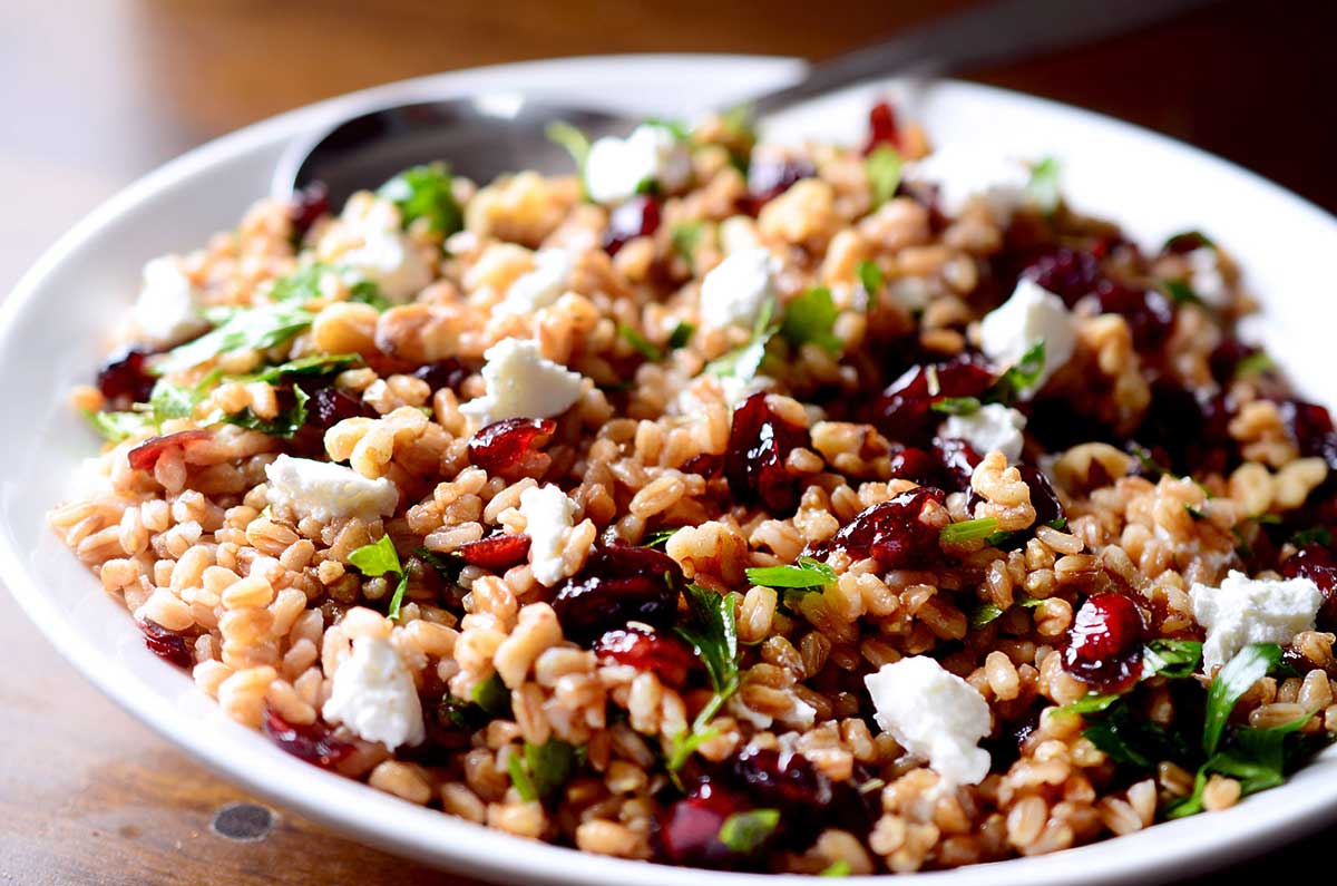 Number 8 - Farro, Cherry, and Walnut Salad