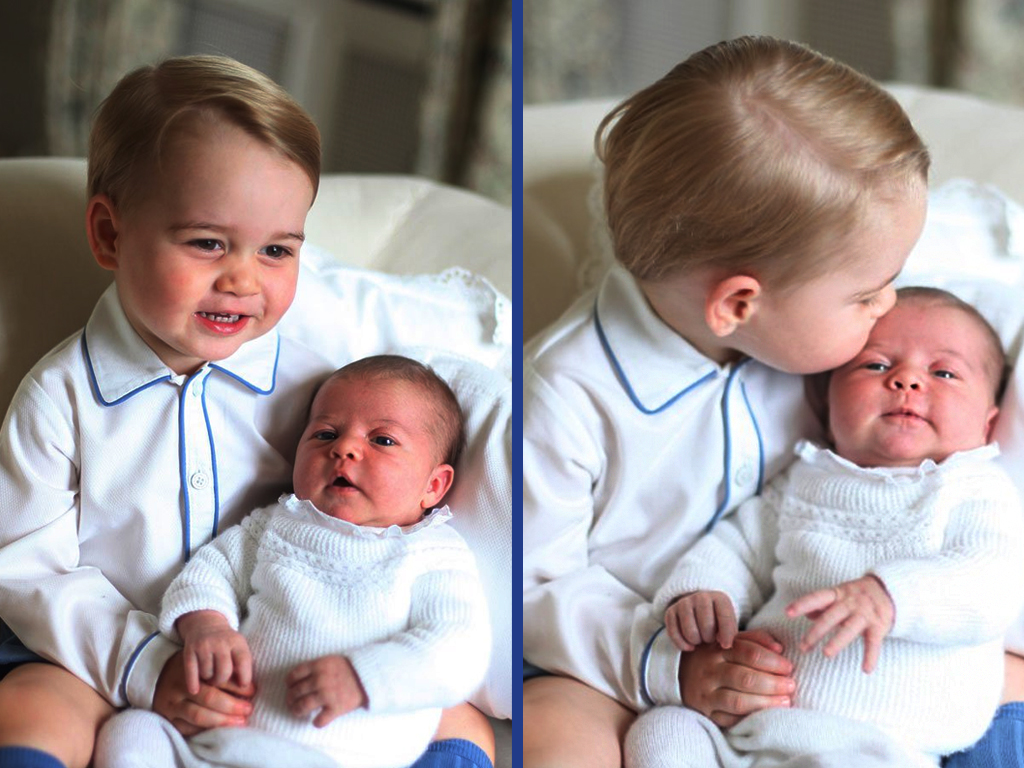 Prince George and Princess Charlotte - Perfect Portraits of Royal Babies 23
