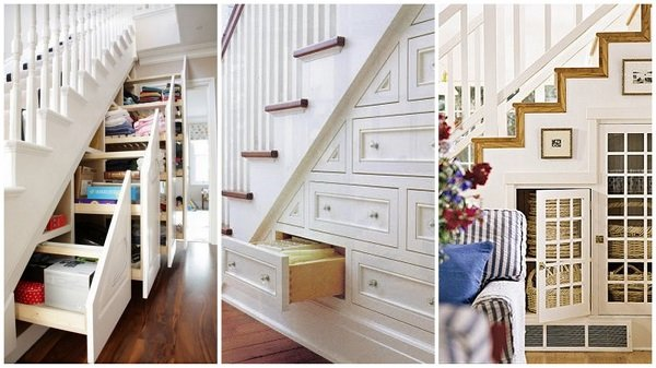 1 Creative ideas to make excellent use of the space under your stairs