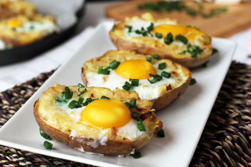 1. Twice Baked Potato with Egg