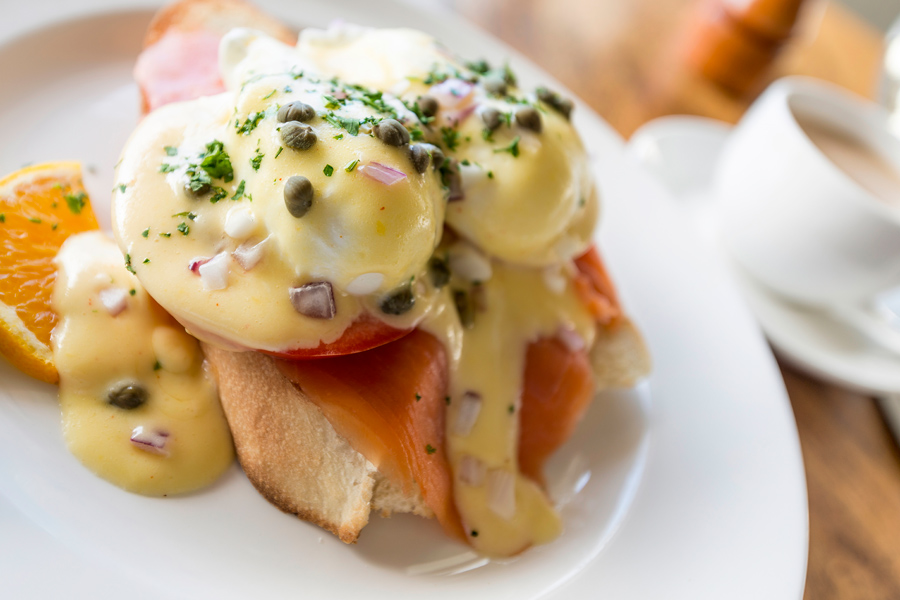 10. Eggs Benedict with Salmon