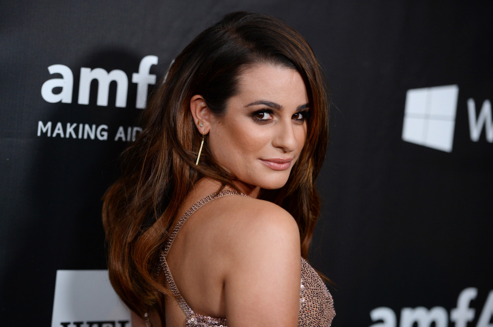 Lea Michele arrives at the 2014 amfAR Inspiration Gala at Milk Studios on Wednesday, Oct. 29, in Los Angeles. (Photo by Jordan Strauss/Invision/AP) ORG XMIT: CABR117