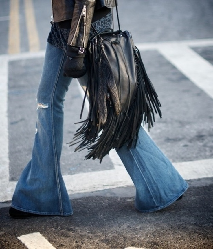 6. Wide-Legged Bell Bottom Jeans