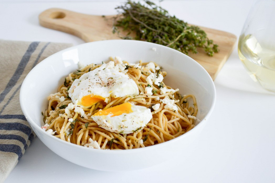 7. Spaghetti With Herbs and Eggs