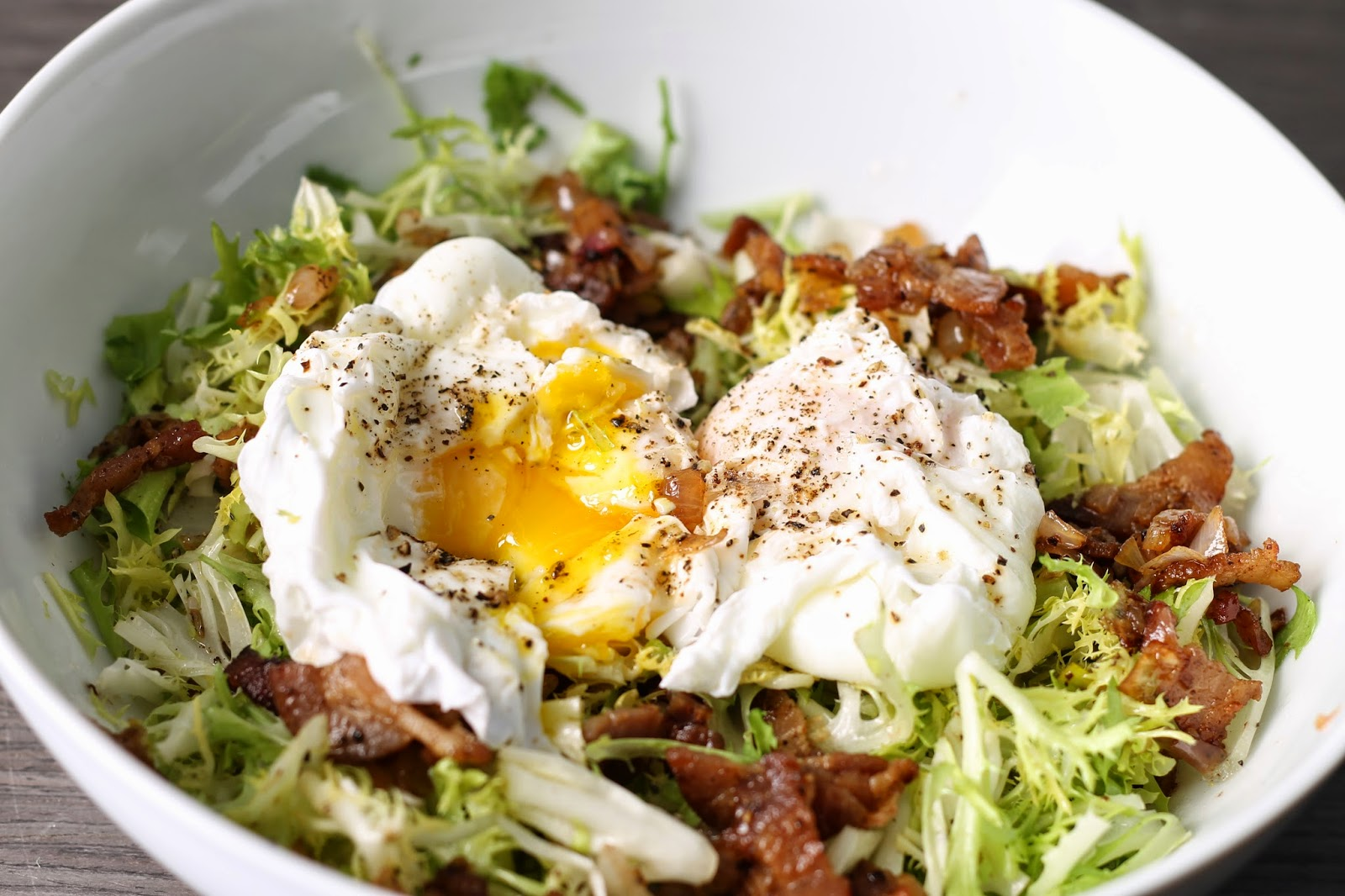 8. Friseé With Bacon and Soft-Cooked Eggs