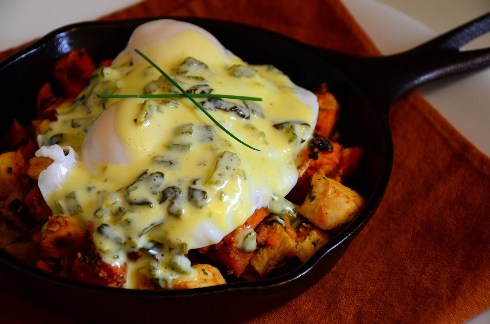 9. Chicken and Potato Hash with Fried Eggs
