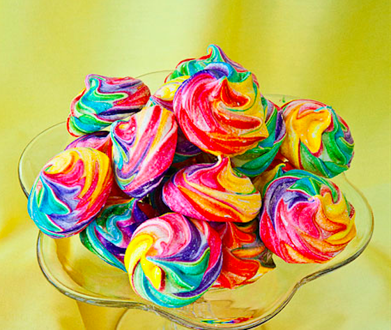 15. Rainbow Meringue Cookies AKA Unicorn Farts