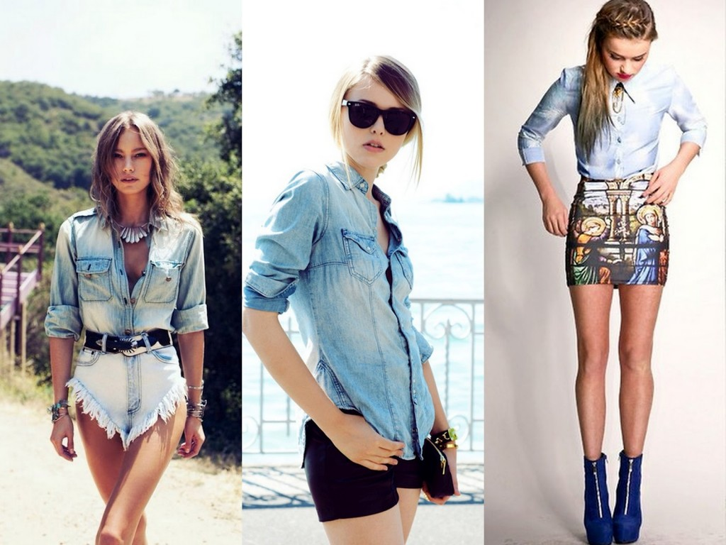 2. Denim Button-Downs