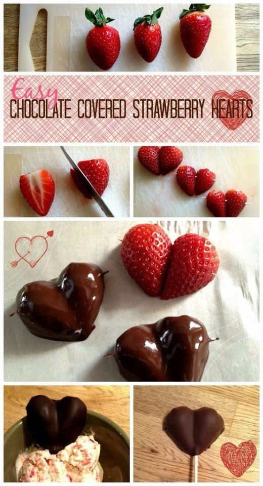 3.Chocolate Covered Strawberry Hearts