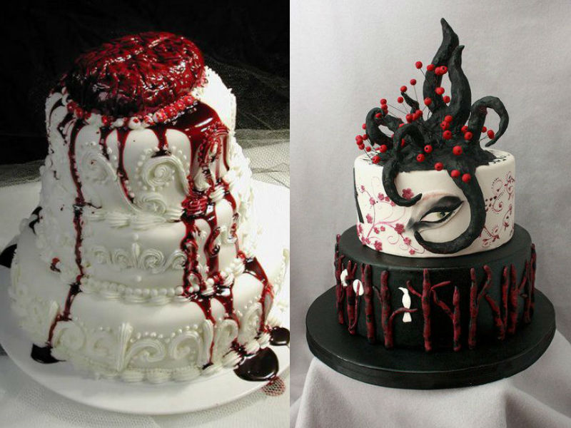 Elegant and Spooky Halloween Wedding Ideas 12