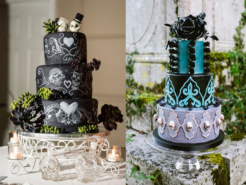 Elegant and Spooky Halloween Wedding Ideas 13