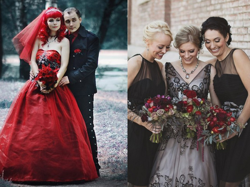 Elegant and Spooky Halloween Wedding Ideas 2